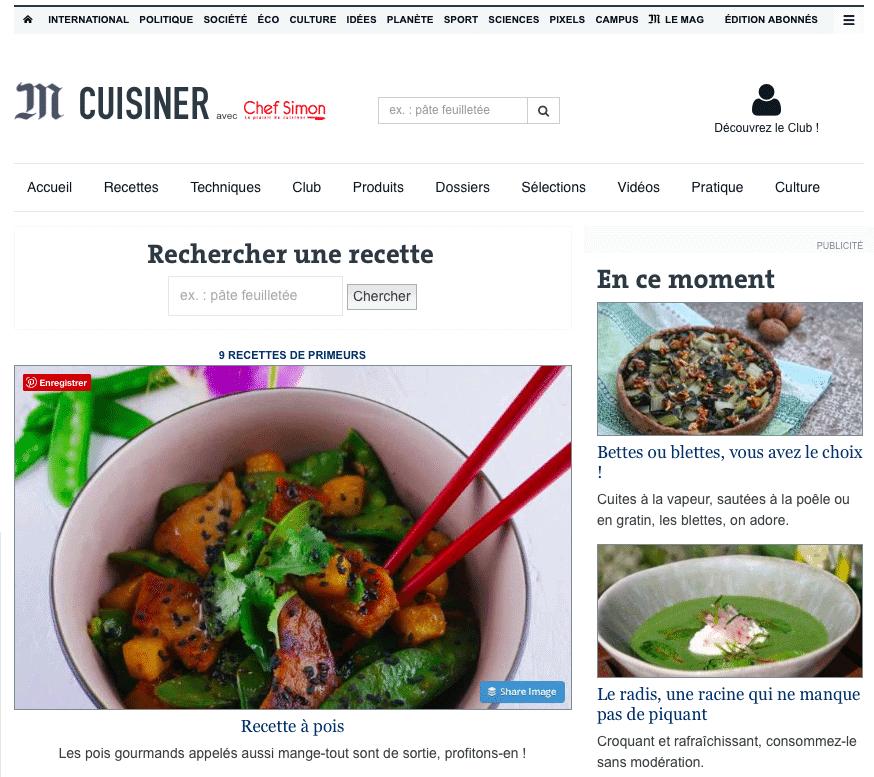 Le Monde x Chef Simon ⎜15.04.2018⎜Recette à pois