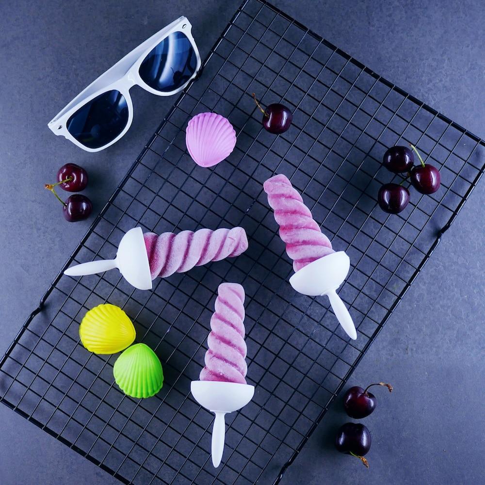 Esquimaux au yaourt glacé et cerises