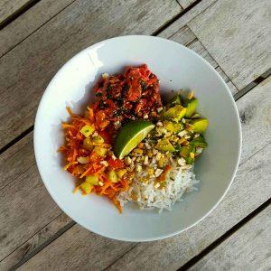 Salade de bœuf aux saveurs thaï - la cerise sur le maillot