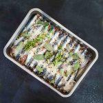 Sardines marinées au sel à la plancha - la cerise sur le maillot
