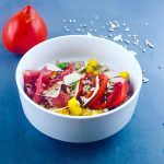 Salade de sarrasin, courgette et coppa - la cerise sur le maillot