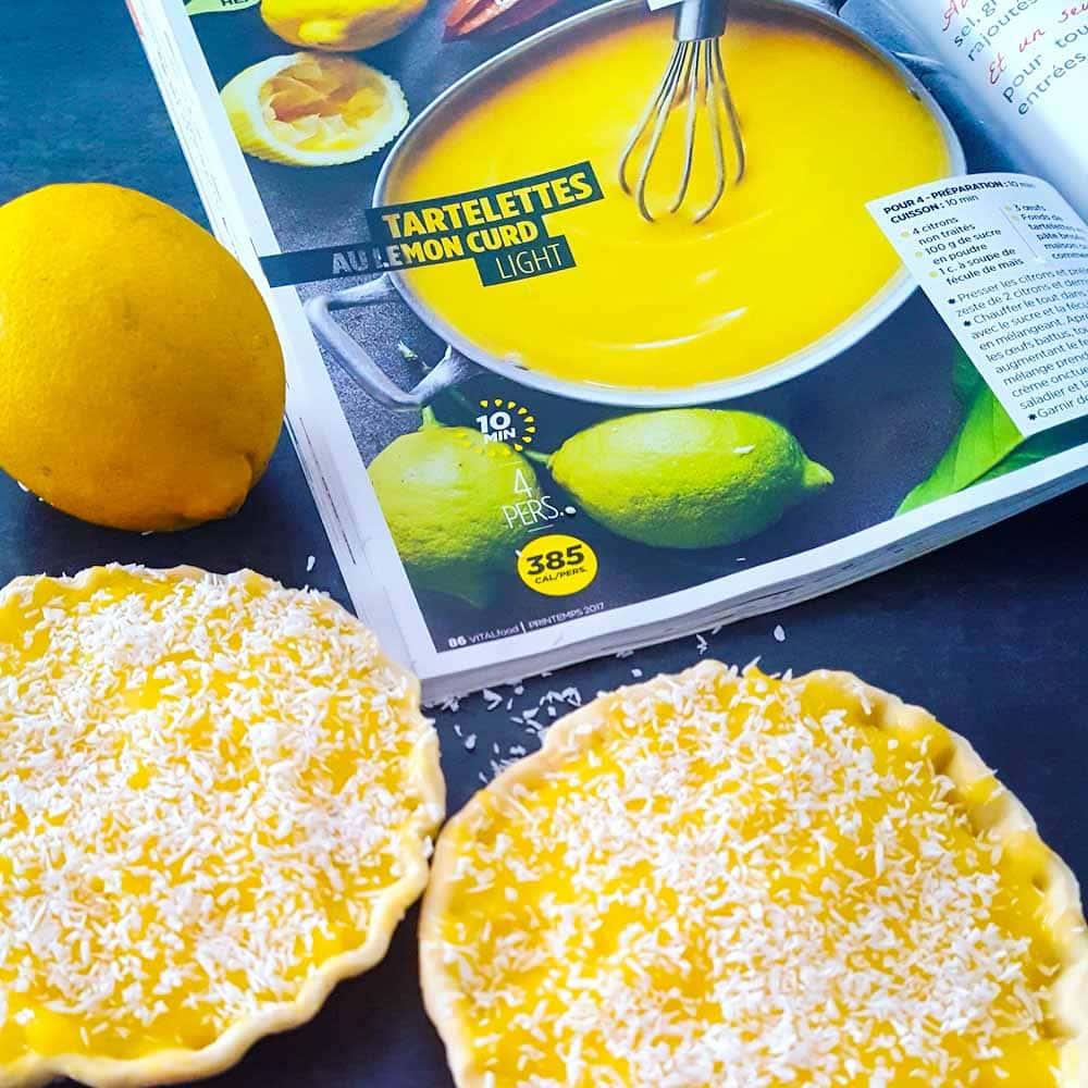 Tartelettes au lemon curd light - la cerise sur le maillot
