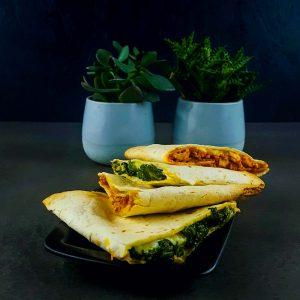 Quesadillas poulet et végétariennes - recette quesadillas - la cerise sur le maillot