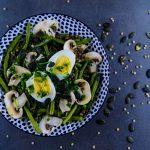 Salade complète aux lentilles et haricots verts - la cerise sur le maillot