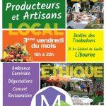 Marché Producteurs artisans locaux, bio, éthiques