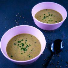 Soupe toute simple et enfant compatible lentilles-poireaux