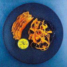 Saumon gravlax aux 4 épices et sauce nordique légère