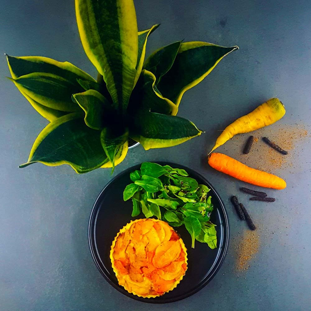 Tatin de carottes - la cerise sur le maillot