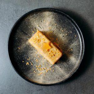 Financiers au lemon curd façon mini-bûches - dessert de noel - la cerise sur le maillot