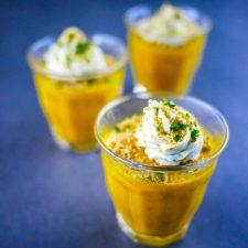 Bavarois de carotte au cumin crème brebis-coriandre