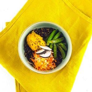 Buddha Bowl tonique et croquant, butternut crémeuse curry-coco - recette buddha bowl - la cerise sur le maillot