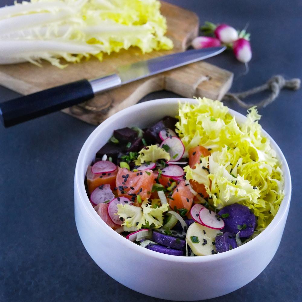 Chti poke bowl - recette de salade - recette salade - la cerise sur le maillot