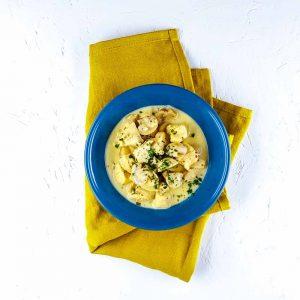 Poulet à la moutarde-estragon-champignons trop facile et trop bon - la cerise sur le maillot