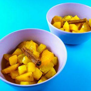 Salade de fruits exotiques à la cannelle - la cerise sur le maillot