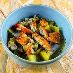 Soupe de poireaux-pommes de terre au haddock - la cerise sur le maillot