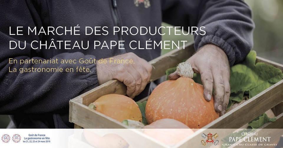 Le marché des producteurs du Château Pape Clément