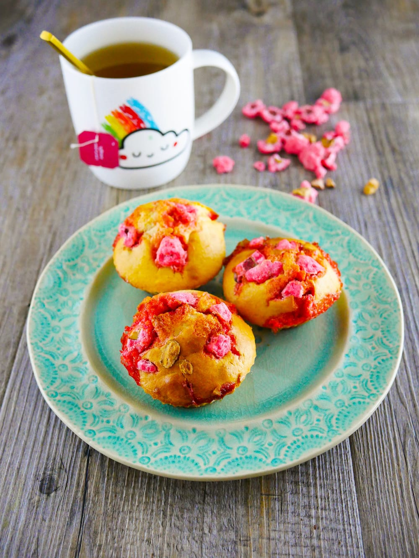 Muffins aux pralines roses - recette de muffins - la cerise sur le maillot