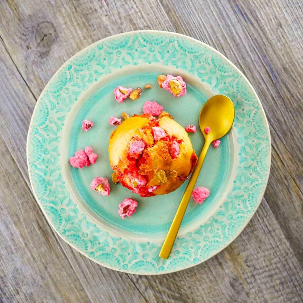 Muffins aux pralines roses - la cerise sur le maillot