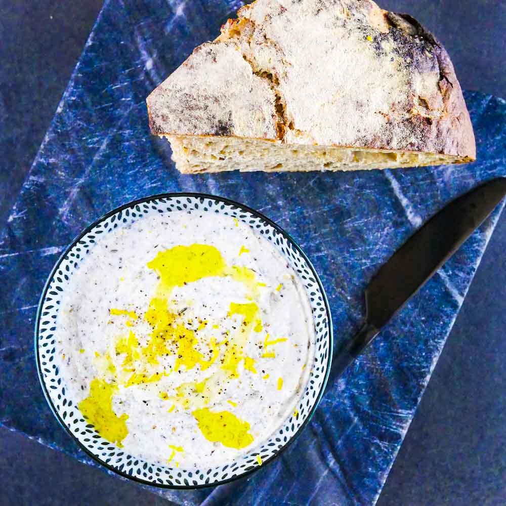 Tartinade de chèvre au citron et zaatar - la cerise sur le maillot