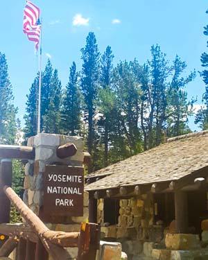 Yosemite - Entrée du parc