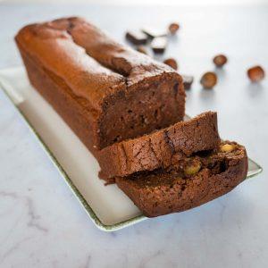 Cake au chocolat, mascarpone et noisettes (d'après Cyril Lignac) - gâteau sans gluten - la cerise sur le maillot