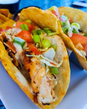 Manger des fish tacos à Capitola