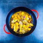 Tajine de poulet, citrons confits et patates douces - la cerise sur le maillot