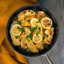 Poulet piccata au citron et aux câpres
