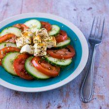 Feta rôtie pour salade estivale
