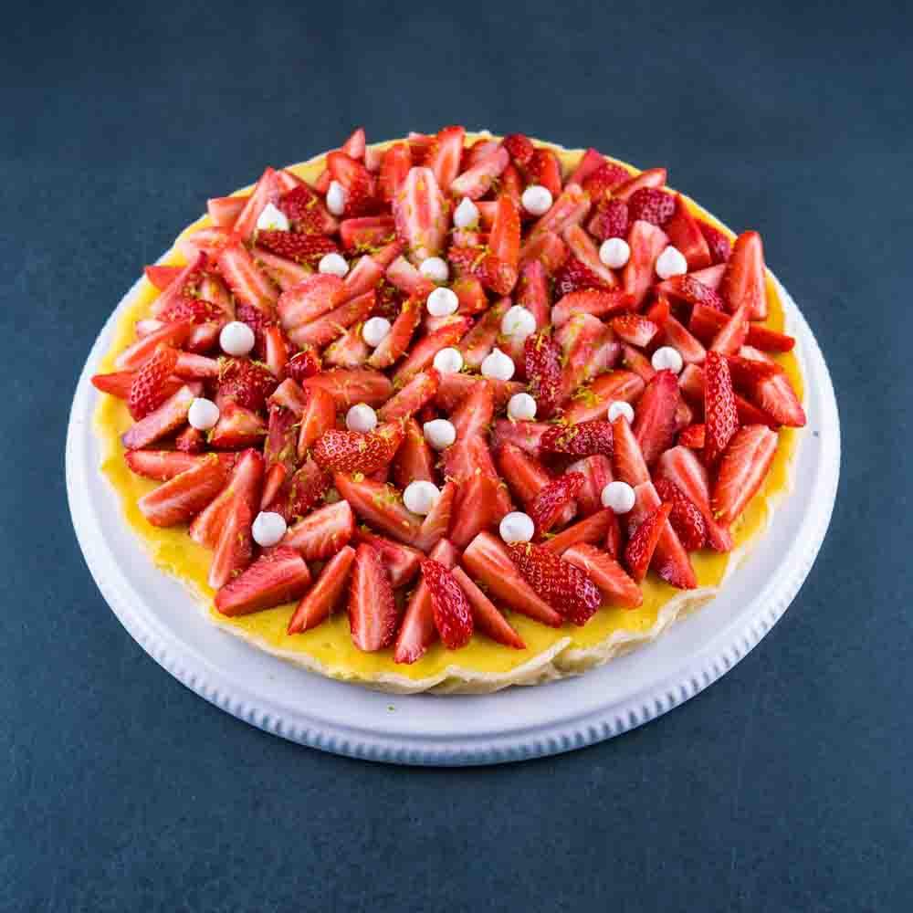 Tarte aux fraises façon cheesecake - la cerise sur le maillot