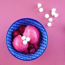 Glace yaourt-framboises
