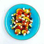 Salade de croutons à la crétoise - la cerise sur le maillot