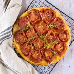 Tatin de tomates au vinaigre balsamique - la cerise sur le maillot