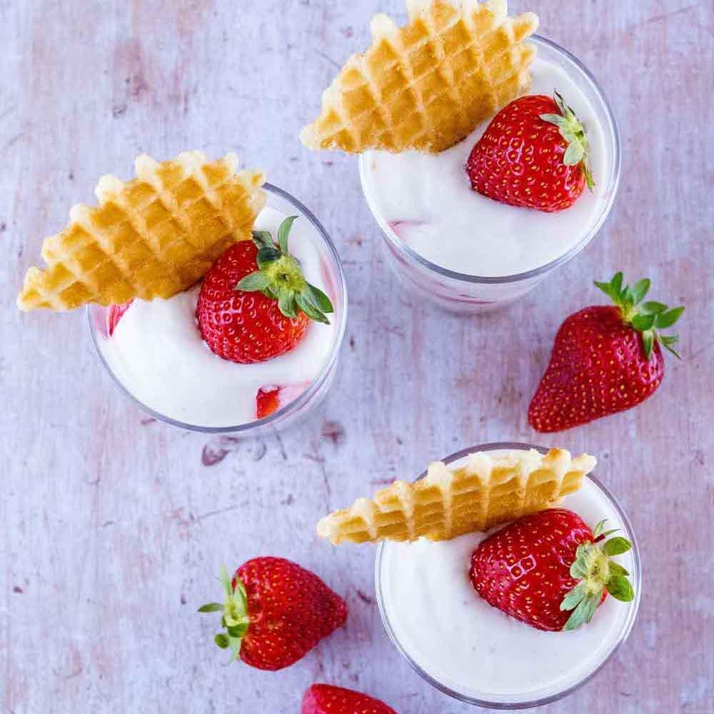 Trifles light aux fraises - dessert léger - la cerise sur le maillot