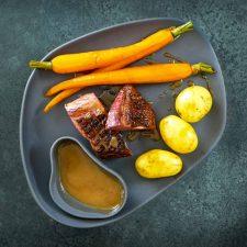 Magret de canard sauce aux pruneaux