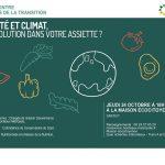 Conférence - Santé et climat, la solution dans votre assiette ? - Bordeaux - 24 octobre 2019