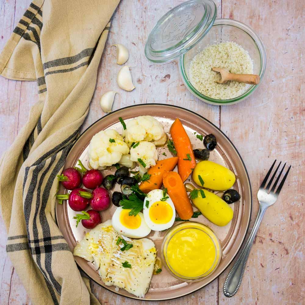 Aïoli, morue et petits légumes - la cerise sur le maillot