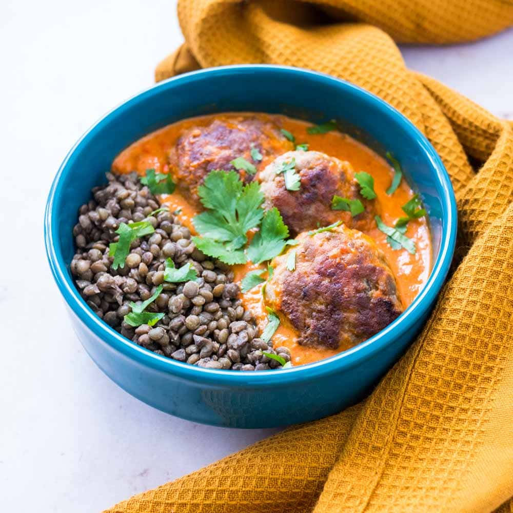 Boulettes de viande et lentilles au curry - la cerise sur le maillot