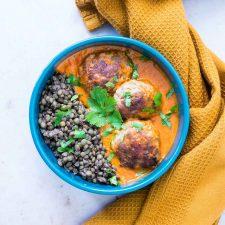 Boulettes de viande et lentilles au curry