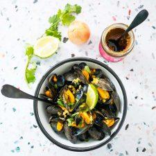 Moules au curry, la recette trop bonne