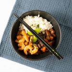 Crevettes sauce coco-soja express - la cerise sur le maillot