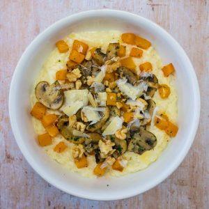 Risotto butternut, champignons et noix - la cerise sur le maillot