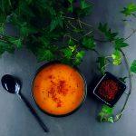 Velouté de butternut et chorizo super gourmand - la cerise sur le maillot
