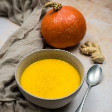 Velouté de potimarron et carottes au gingembre