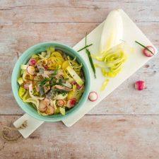 Salade de pommes de terre, endives et hareng