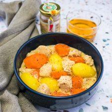 Cocotte de poulet au cidre et piment d'Espelette