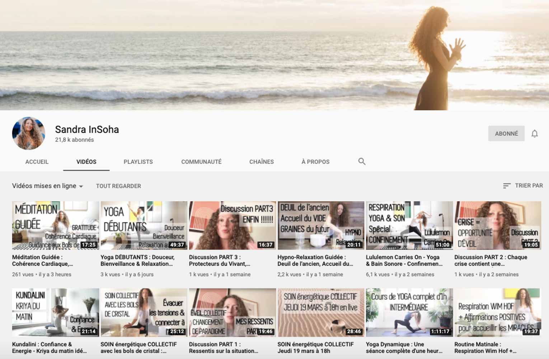 Yoga en ligne, ma sélection, mes préférés - Sandra InSoha
