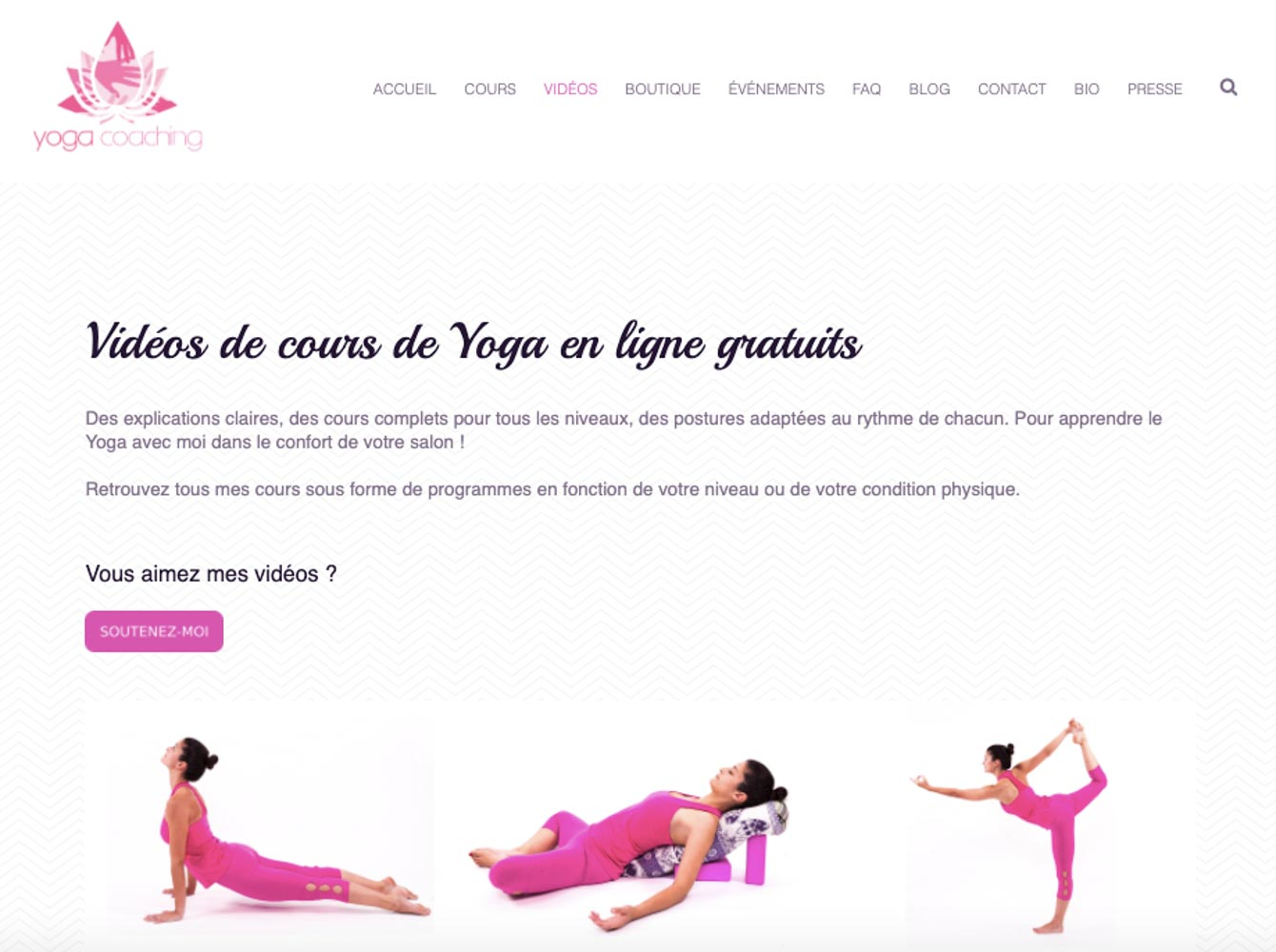 Yoga en ligne, ma sélection, mes préférés - Yoga coaching