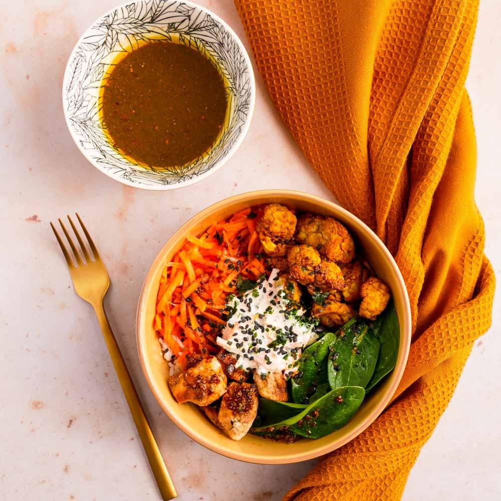 Bol Bollywood, une salade en mode batch cooking