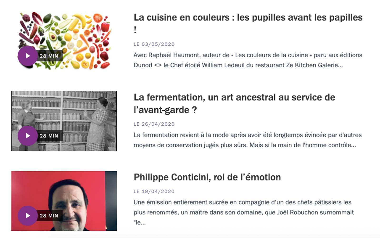 Les bonnes choses sur France Culture